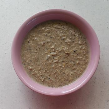 Mixed supplement porridge for rats needing nutritional support.